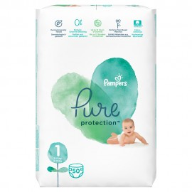 Pampers Pure Protection Μέγεθος 1 (2-5kg) 50 Πάνες