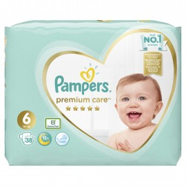 Pampers Premium Care No6 (13+kg) 38 πάνες