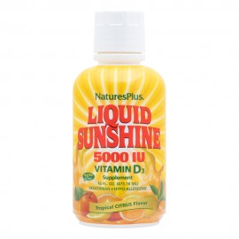 NaturesPlus Liquid Sunshine Vitamin D3 5000 IU - Tropical Citrus 473.18ml