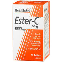 Health Aid Ester C Plus 1000mg with bioflavonoids 30 tablets