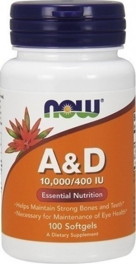 Now Vitamin A & D (10.000IU A/ 400IU D) 100 μαλακές κάψουλες