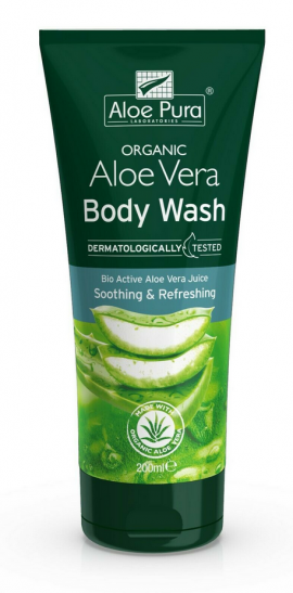 Optima Aloe Pura Organic Aloe Vera Body Wash 200ml