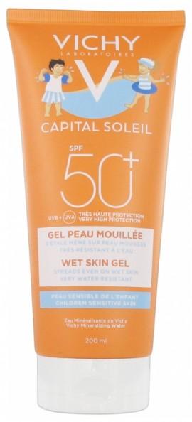 Vichy Capital Soleil Wet Skin Gel Kids SPF50+ Παιδικό Αντηλιακό 200ml