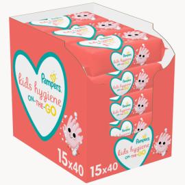 Pampers Kids Hygiene On-The-Go E-box Μωρομάντηλα (15x40τμχ) 600τμχ