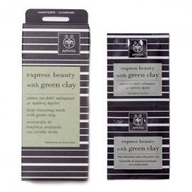 APIVITA Express Beauty Πράσινη άργιλος Μάσκα για Bαθύ Kαθαρισμό