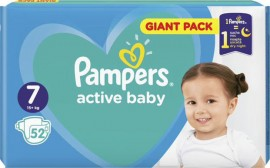 Pampers Active Baby Giant Pack No.7 (15+Kg) 52τμχ