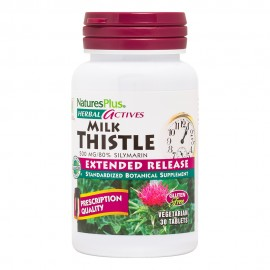 NaturesPlus Herbal Actives Milk Thistle 500mg 30 Extended Release Tablets