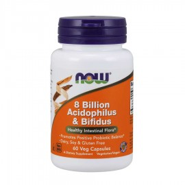 Now 8 Billion Acidophillus & Bifidus 60 κάψουλες