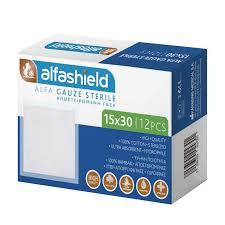 Alfashield Αποστειρωμένη Γάζα 15cm x 30cm, 12τεμάχια