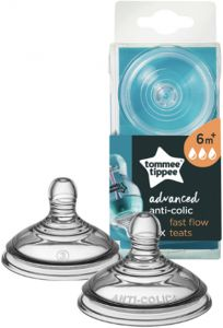 Tommee Tippee Advanced Anti Colic Fast Flow Teats 6m+ 2τεμάχια