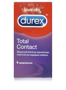 Durex Total Contact Condoms 6 Προφυλακτικά