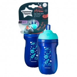 Tommee Tippee Straw Cup Insulated Straw Cup 12+ Months 260ml Blue