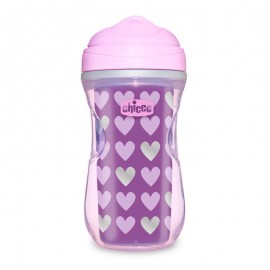 Chicco Active Cup Insulated Μωβ Καρδιές14m+ 266ml