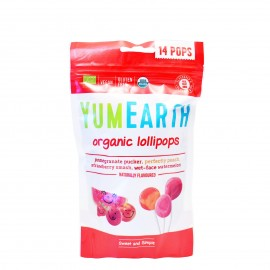 Yumearth Organic Pops Βιολογικά Γλειφιτζούρια Φρούτων 14 τμχ (85gr)