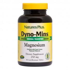 NaturesPlus Dyno-Mins Magnesium 250mg 90 ταμπλέτες