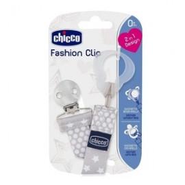 Chicco Fashion Clip Κλιπ Πιπίλας Γκρι 1 τεμάχιο