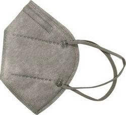 Μάσκα Προστασίας FFP2 N95 NR (KN95) Μάσκα Χωρίς Βαλβίδα Γκρι 1τμχ