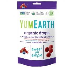 Yumearth Organic Drops Vitamin C Βιολογικές Καραμέλες Φρούτων με Βιταμίνη C 93gr