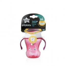 Tommee Tippee Explora 360° Trainer Cup 6m+ Ροζ