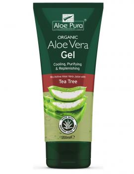 Optima Organic Aloe Vera Gel with Tea Tree 200 ml