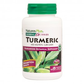 NaturesPlus Herbal Actives Turmeric 400 mg 60 vcaps