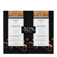 Korres Βαφή Argan Oil Promo Advanced Colorant 8.73 Χρυσή Καραμέλα 2τμχ -50% στη δεύτερη βαφή