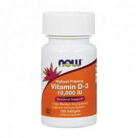 Now Vitamin D3 10.000 IU gels 120 softgels