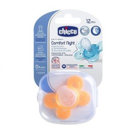 Chicco Physio Comfort Night Silicone 12m+ Με Θηκη , Πορτοκαλί