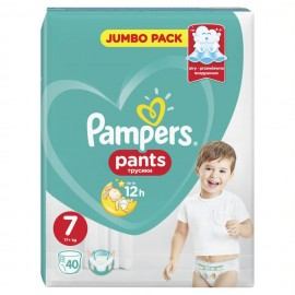 Pampers Pants Jumbo Pack Μέγεθος 7  (17+kg) 40τμχ