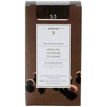 Korres Βαφή Argan Oil Advanced Colorant 5.3 Καστανό Ανοικτό Χρυσό Μελί 50ml