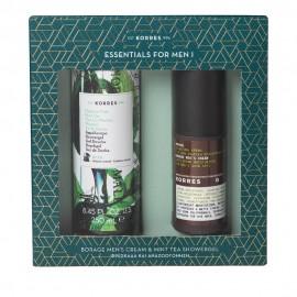 Korres Essentials for Men I Borage Cream 50ml & ΔΩΡΟ Πράσινο Τσάι Showergel 250ml