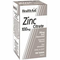 Health Aid Zinc Citrate 100mg 100 tabs