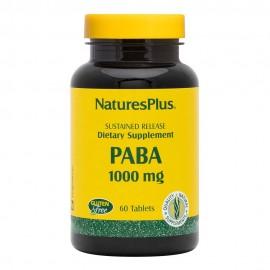NaturesPlus PABA (Para Aminobenzoic Acid) 1000mg 60tabs