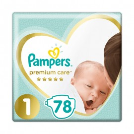 Pampers Premium Care No1 Newborn (2-5kg) Jumbo 78πάνες